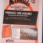One of the first ads to own a McDonalds Franchise.